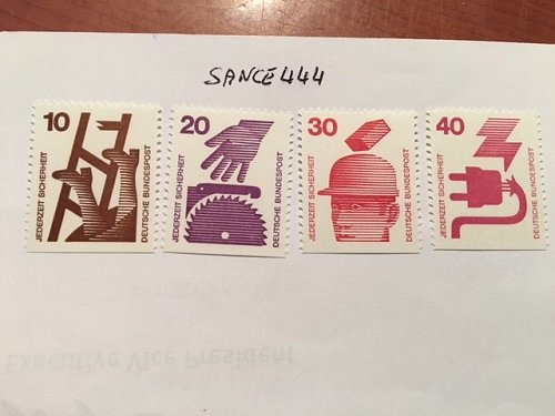 Germany Preventing accidents imperf. bottom mnh 1974