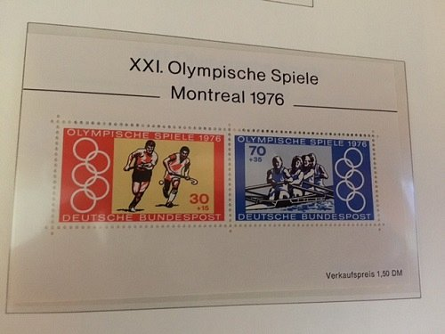 Germany Olympic Games Montreal s/s mnh 1976