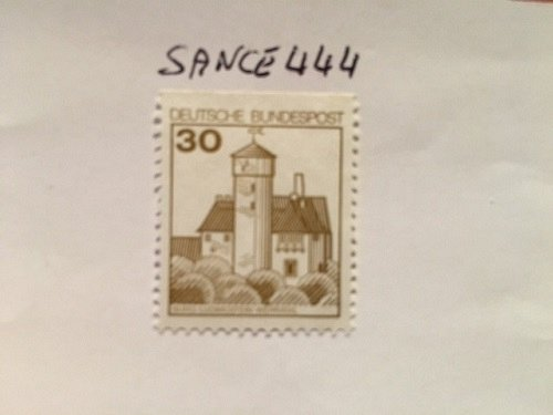 Germany Definitives Castles 30p top imperf. mnh 1977