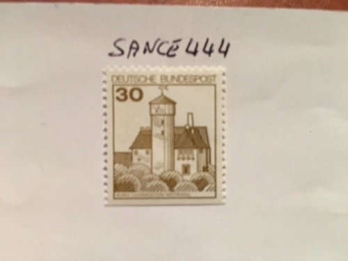 Germany Definitives Castles 30p bottom imperf. mnh 1977