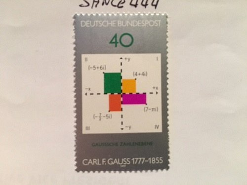 Germany Carl Friedrich Gauss Mathematician mnh 1977 #2