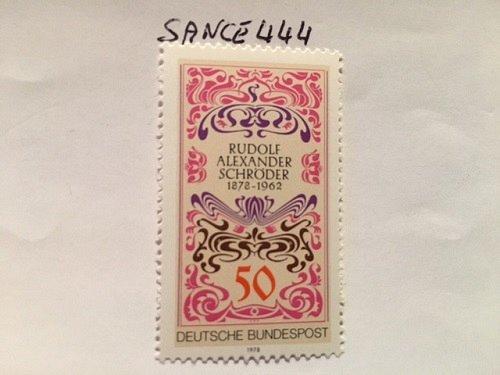 Germany Rudolf A. Schroder mnh 1977 stamps