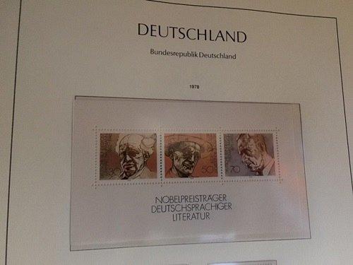 Germany Nobel prize literature s/s mnh 1978