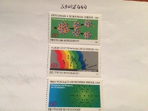 Germany Nobel prizes chemistry & physics mnh 1979