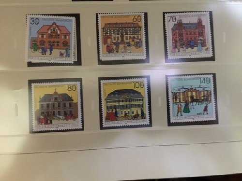 Germany Welfare Post offices mnh 1991