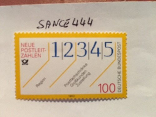 Germany Introduction of City Code Numbers mnh 1993