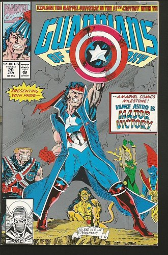 Guardians of the Galaxy #20 Marvel Comics 1992 Silver Cover Major Victory