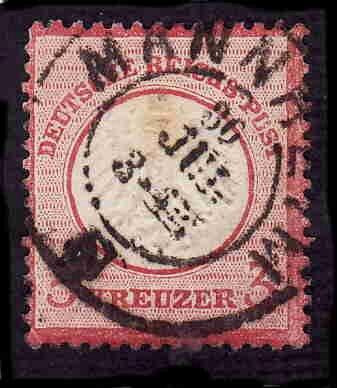 German Used Scott #9 Catalog Value $14.50