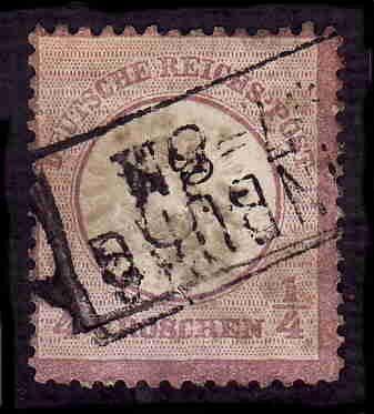 German Used Scott #14 Catalog Value $110.00
