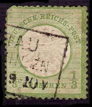 German Used Scott #15 Catalog Value $13.50