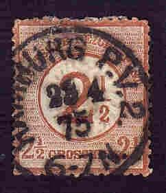 German Used Scott #27 Catalog Value $42.50
