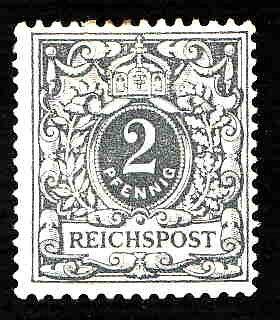German MNH Scott #45 Catalog Value $3.89