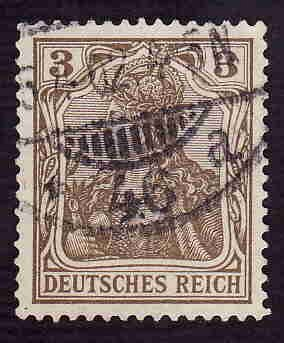 German Used Scott #66 Catalog Value $1.00