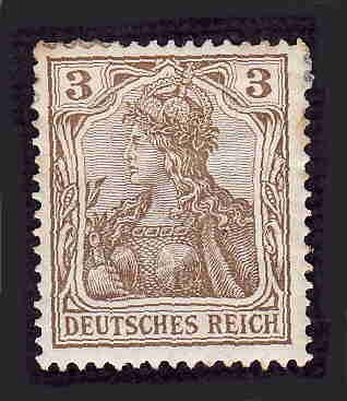 German Hinged Scott #66 Catalog Value $.75