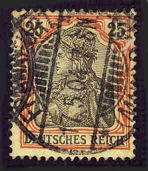 German Used Scott #70 Catalog Value $2.10