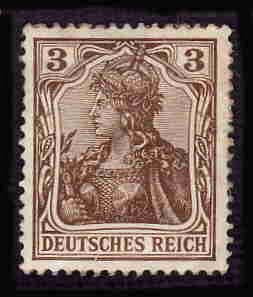 German Hinged Scott #81 Catalog Value $.60