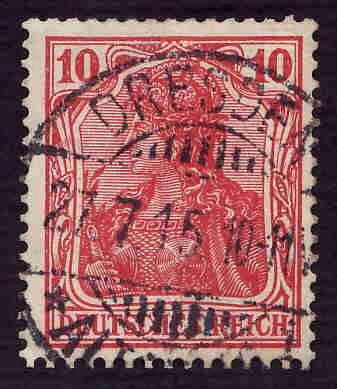 German Used Scott #83 Catalog Value $1.50