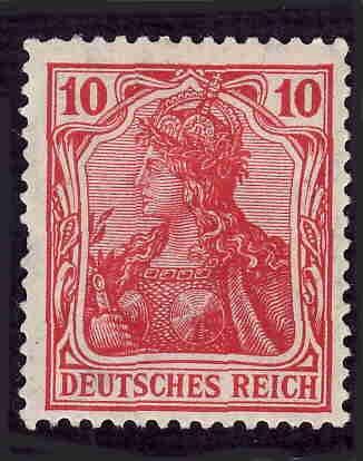 German Hinged Scott #83 Catalog Value $.75