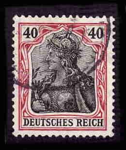 German Used Scott #87 Catalog Value $1.50