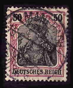 German Used Scott #88 Catalog Value $1.50