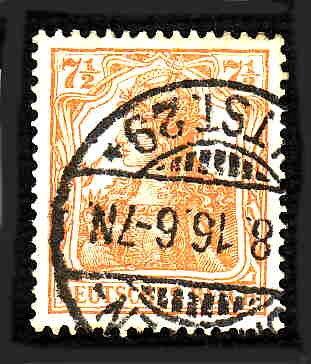 German Used Scott #98f Catalog Value $2.25