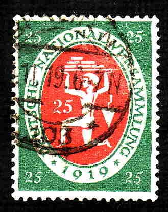 German Used Scott #107 Catalog Value $1.50