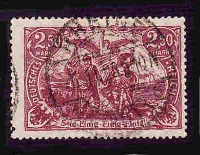 German Used Scott #114a Catalog Value $2.25