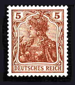 German MNH Scott #118 Catalog Value $.75