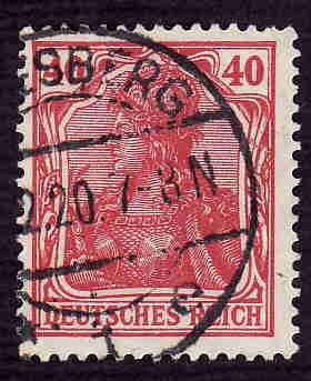 German Used Scott #124 Catalog Value $1.90