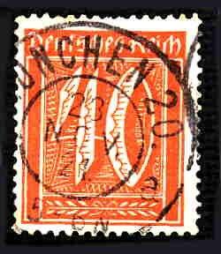 German Used Scott #142 Catalog Value $1.60