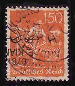 German Used Scott #148 Catalog Value $2.00