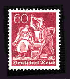 German MNH Scott #168 Catalog Value $.61