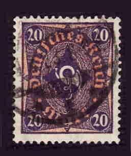 German Used Scott #182 Catalog Value $3.00