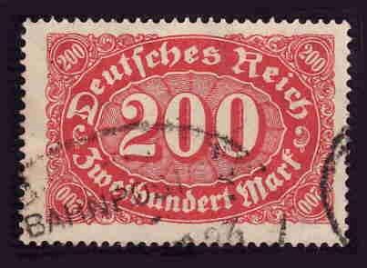 German Used Scott #200 Catalog Value $1.90