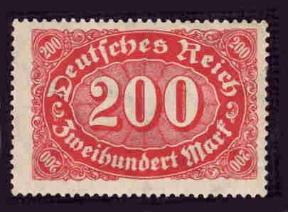 German MNH Scott #200 Catalog Value $.48