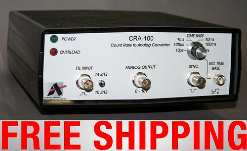 ARiCORP CRA-100 100MHz COUNT RATE TO ANALOG CONVERTER 10/14 bit Low / High Operation