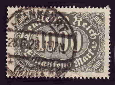 German Used Scott #204 Catalog Value $1.35