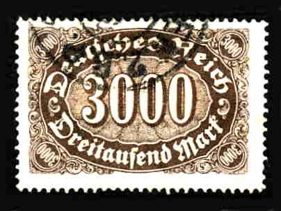 German Used Scott #206 Catalog Value $1.50