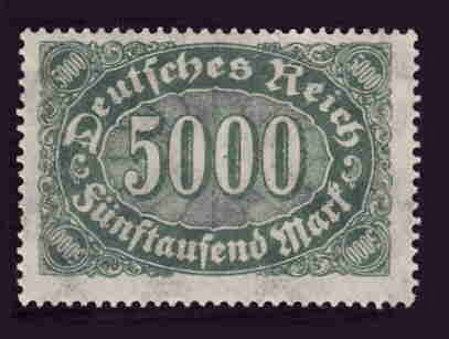 German MNH Scott #208 Catalog Value $.58
