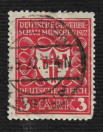 German Used Scott #214 Catalog Value $1.90