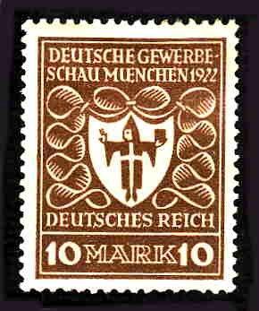 German Hinged Scott #216 Catalog Value $.60