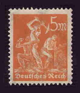German MNH Scott #221 Catalog Value $.48