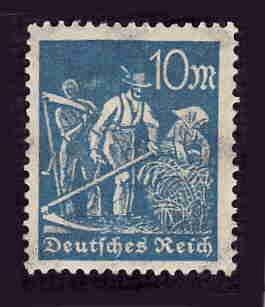 German MNH Scott #222 Catalog Value $.48