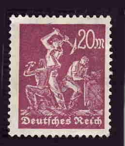 German MNH Scott #224 Catalog Value $.45