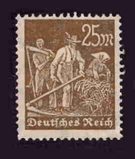 German MNH Scott #225 Catalog Value $.45