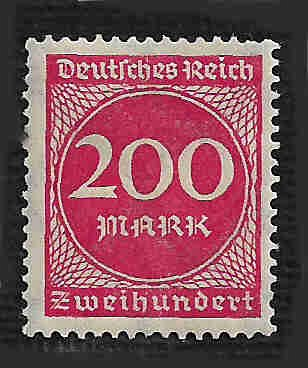 German MNH Scott #230 Catalog Value $.45