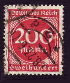 German Used Scott #230 Catalog Value $1.50