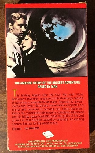 rare new sealed - Jules Verne's From the Earth to the Moon VHS 1958/1986 Canada