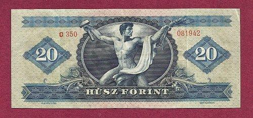 Hungary 20 Forint 1965 Banknote 081942 - Gyorgy Dozsa/Csaba Hegedűs