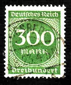 German Used Scott #231 Catalog Value $1.50